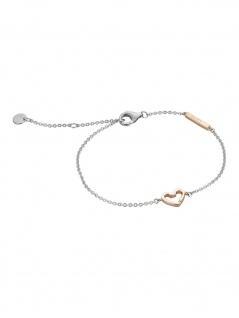 Esprit ESBR00691217 Damen Armband Herz Melody Bicolor Rose Weiß 21 cm