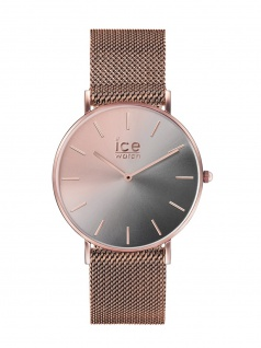 Ice-Watch 016026 Ice City Sunset Milanese Smoky eye Small Uhr Rose