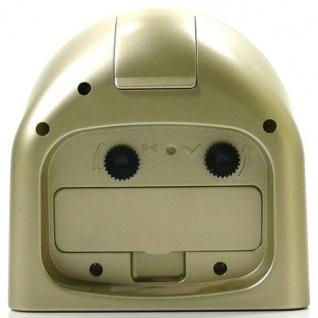 W&S 600101 Wecker Uhr champagner-weiß Analog Licht Alarm - Vorschau 2
