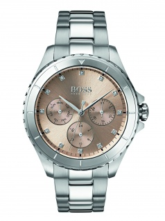 Hugo Boss 1502444 PREMR Uhr Damenuhr Edelstahl Datum Silber