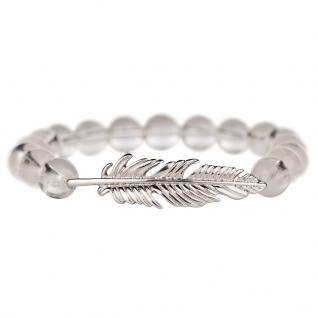 Traumfänger TFSB03MCS Damen Armband Feder Silber Transparent 19 cm