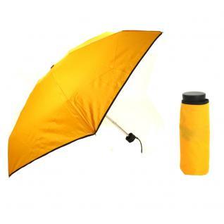Flash Ultra Mini Flash solid Gelb Regenschirm Taschenschirm