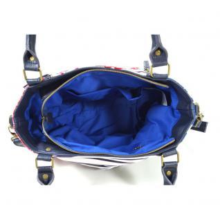 Desigual Sevilla Kimera Blau Rot Weiß Handtasche Tasche Henkeltasche - Vorschau 3