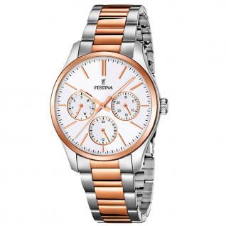 FESTINA F16814/2 TREND Uhr Damenuhr Edelstahl Datum bicolor rosé