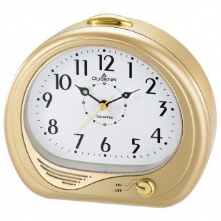 DUGENA 4460622 Wecker Alarm Analog gold
