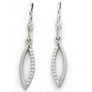 Basic Silber 02.1131 Damen Ohrringe Silber Zirkonia weiß - Vorschau 1