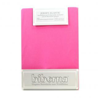 Biberna 77866-173 Jersey Elastic Spannbetttuch Pink 180x200 200x220