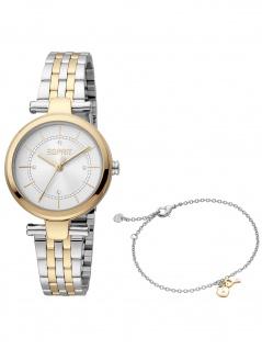 Esprit ES1L281M0085 Laila Silver Gold MB Set Uhr Damenuhr bicolor