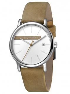 Esprit ES1G047L0015 TIMBER Uhr Damenuhr Lederarmband Datum Beige