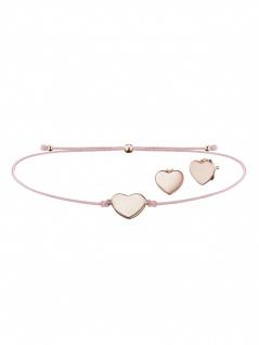 Julie Julsen JJSET3 Damen Armband Herz Rose Rosa 25 cm