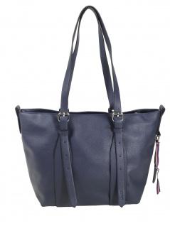 Esprit Damen Handtasche Tasche Henkeltasche Liz small shopper Blau