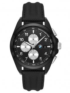BMW BMW7003 BMW Chronograph Uhr Herrenuhr Leder Chrono Datum schwarz
