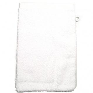 Waschhandschuh Naturweiß Frottee 500g/m2 Waschlappen 15 x 21 cm