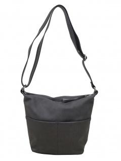 Esprit Damen Handtasche Tasche Schultertasche Vivien shoulderbag Grau