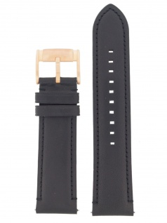 Fossil Uhrenarmband LB-FS5097 Original Ersatzband Leder 24 mm Schwarz