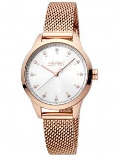 Esprit ES1L259M1095 Pointy Rosegold Silver Mesh Uhr Damenuhr rose