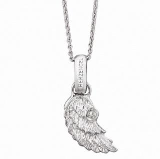 Herzengel HEN-WING-01-ZI Mädchen Kette Flügel Silber 39 cm