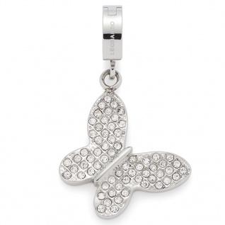 Leonardo 016259 Damen Charms Schmetterling Dolcia Darlin's Silber Weiß
