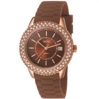 Esprit ES106212008 marin glints brown Uhr Damenuhr Datum braun