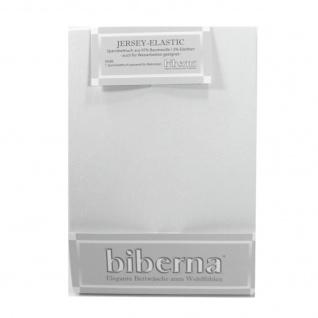 Biberna 77866 Jersey Elastic Spannbetttuch Hellgrau 180x200 200x220