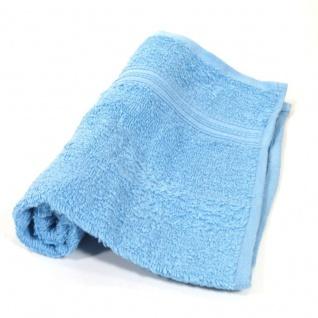 Gästetuch Hellblau Frottee Baumwolle 500g/m2 Handtuch 30 x 50 cm - Vorschau 1