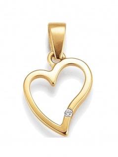 Basic 585 Gold 21.1180 Damen Anhänger Herz Zirkonia
