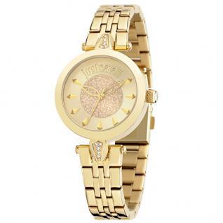 Just Cavalli JUST FLORENCE Uhr Damenuhr Edelstahl gold Zirkonia weiß