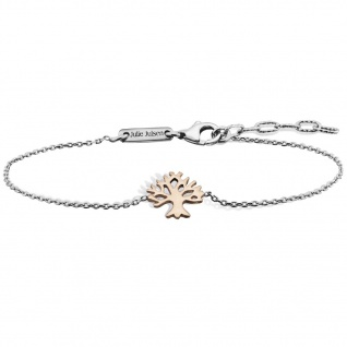 Julie Julsen® JJBR9674.4 Damen Armband Lebensbaum Silber bicolor 18 cm
