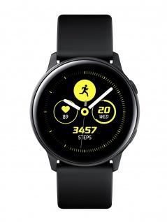 SAMSUNG Galaxy Watch Active Black Uhr Herrenuhr Kautschuk schwarz