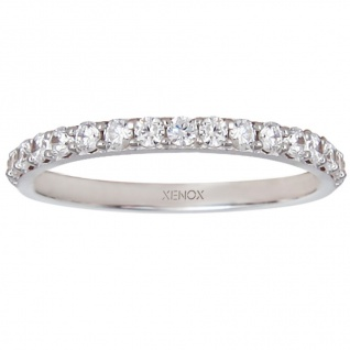 XENOX XS7357 Damen Ring Silver Circle Silber weiß 56 (17.8)