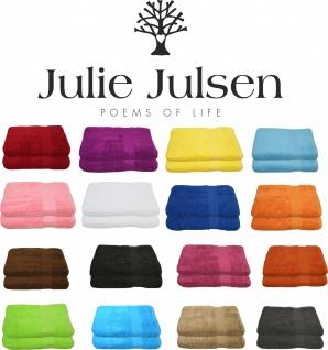 B-Ware 2er Set Julie Julsen® Badetuch 100 cm x 150 cm