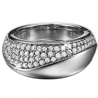 Esprit ESRG-91425.A Damen Ring Silber diversity glam mit Zirkonia weiß Größe 56 (18, 0 mm)