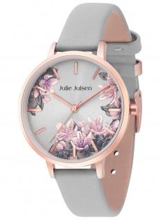Julie Julsen JJW1211RGL-8 Blossom rosé grey Uhr Damenuhr Leder grau