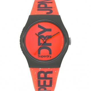 Superdry SYL189CE Urban Uhr Damenuhr Silikon Orange - Vorschau 1