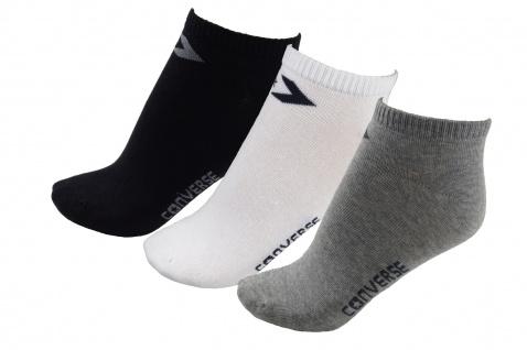 Converse Damen Socken Low Cut 3er Pack Füßlinge Größe 39-42 Mehrfarbig