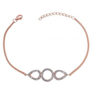 GOOIX 914-06382 Damen Armband Sterling-Silber 925 Rose Weiß 20 cm