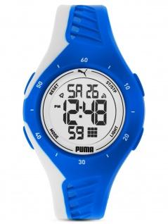 PUMA P6010 Uhr Damenuhr Kautschuk Datum Alarm blau