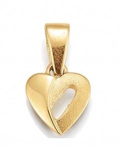 Basic 585 Gold 21.1182 Damen Anhänger Herz Zirkonia