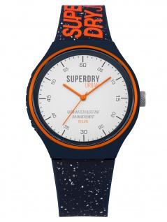Superdry SYG227U Uhr Herrenuhr Kautschuk Blau