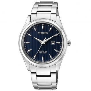 Citizen EW2470-87L Eco-Drive Uhr Herrenuhr Titan Datum Silber