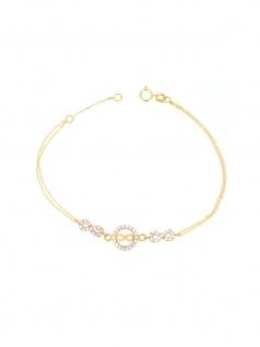 Gerry Eder 42.EG105 Armband Infinity 14 Karat (585) Gold Weiß 19 cm