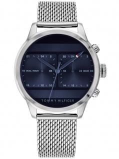 Tommy Hilfiger 1791596 ICON Uhr Herrenuhr Edelstahl Silber