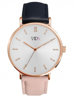 laVIIDA WVI2022R Vienna Uhr Damenuhr Lederarmband Rosa