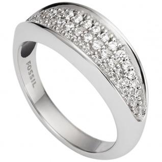 Fossil JFS00366 Damen Ring Silber Zirkonia 53 (16.9)