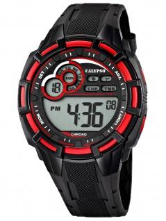 Calypso K5625/4 Chrono Uhr Herrenuhr Kunststoff Datum Alarm schwarz