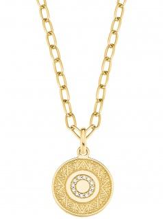 s.Oliver 2027623 Damen Collier Orientalisches Muster Gold weiß 45 cm