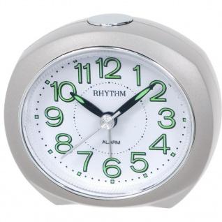 RHYTHM CRE865NR03 Wecker Uhr Alarm Weiss