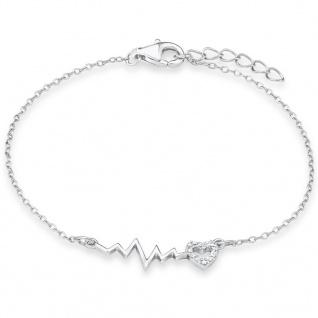 s.Oliver SOK237/01 Mädchen Armband Herz Silber Zirkonia 18 cm