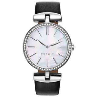 Esprit esprit tp-10911 black Uhr Damenuhr Lederarmband schwarz