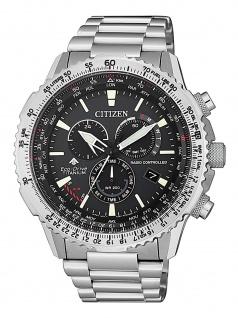 Citizen Eco-Drive Radio Controlled Uhr Titan Chrono Datum Grau